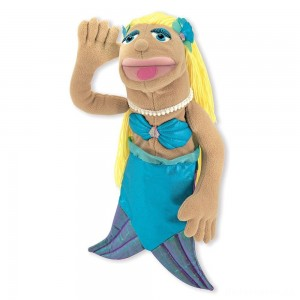 [BLACK FRIDAY] Melissa & Doug Mermaid Puppet With Detachable Wooden Rod for Animated Gestures