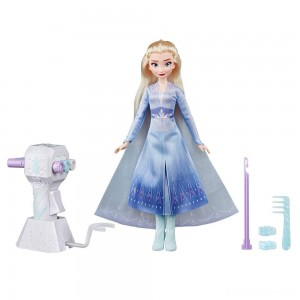 Disney Frozen 2 Sister Styles Elsa Fashion Doll With Extra-Long Blonde Hair, Braiding Tool and Hair Clips [Sale]