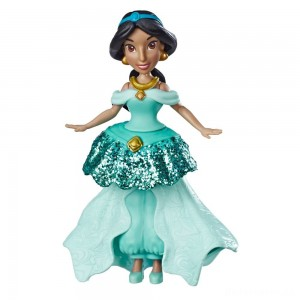 Disney Princess Jasmine Doll with Royal Clips Fashion, One-Clip Skirt [Sale]