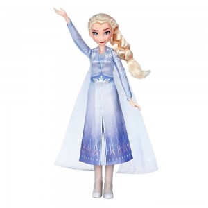 [BLACK FRIDAY] Disney Frozen 2 Singing Elsa Fashion Doll with Music - Blue