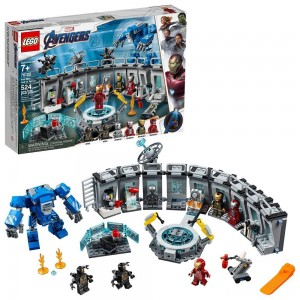 [BLACK FRIDAY] LEGO Marvel Avengers Iron Man Hall of Armor Superhero Mech Model with Tony Stark Action Figure 76125