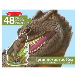 [BLACK FRIDAY] Melissa & Doug T-Rex Dinosaur Jumbo Jigsaw Floor Puzzle 48pc