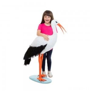 Melissa & Doug Stork, stuffed animals
