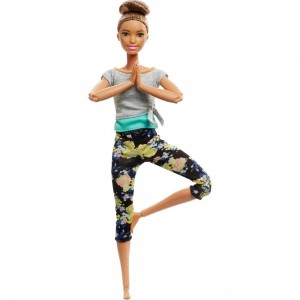 [BLACK FRIDAY] Barbie Made To Move Yoga Doll - Floral Blue