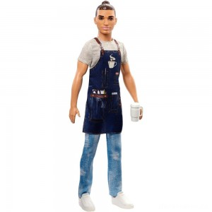 Barbie Ken Career Barista Doll [Sale]