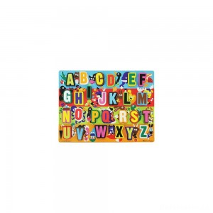 [BLACK FRIDAY] Melissa & Doug Jumbo ABC Wooden Chunky Puzzle (26pc)