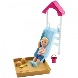 Barbie Skipper Babysitters Inc. Friend Doll and Playground Playset [Sale]