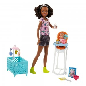 Barbie Skipper Babysitters Inc. Doll and Feeding Playset - Brunette [Sale]