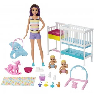 Barbie Skipper Babysitters Inc Nap 'n' Nurture Nursery Dolls and Playset [Sale]