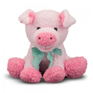 [BLACK FRIDAY] Melissa & Doug Meadow Medley Piggy - Stuffed Animal With Sound Effect