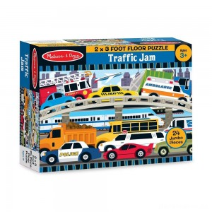 [BLACK FRIDAY] Melissa And Doug Traffic Jam Jumbo Floor Puzzle 24pc