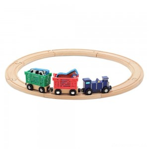 [BLACK FRIDAY] Melissa & Doug Farm Animal Wooden Train Set (12+pc)
