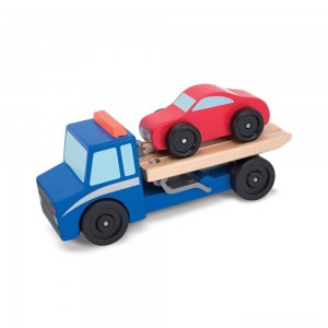 [BLACK FRIDAY] Melissa & Doug Flatbed Tow Truck Wooden Vehicle Set
