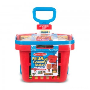 [BLACK FRIDAY] Melissa & Doug Fill & Roll Grocery Basket Playset