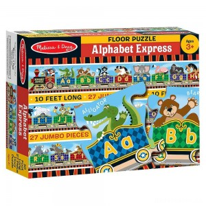 Melissa & Doug Alphabet Express Jumbo Jigsaw Floor Puzzle (27pc, 10 feet long)