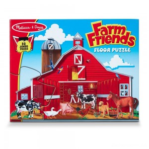 Melissa And Doug Farm Friends Jumbo Floor Puzzle 32pc