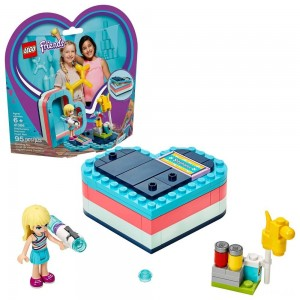 [BLACK FRIDAY] LEGO Friends Stephanie's Summer Heart Box 41386 Portable Toy Building Set, Stephanie Mini Doll 95pc