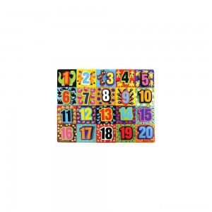 [BLACK FRIDAY] Melissa & Doug Jumbo Numbers Wooden Chunky Puzzle (20pc)