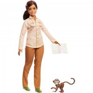 Barbie National Geographic Doll with Monkey [Sale]