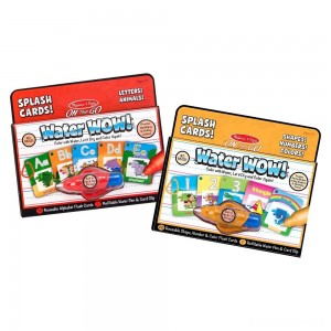 [BLACK FRIDAY] Melissa & Doug On the Go Water Wow Splash Cards, 2-Pack - Alphabet and Numbers and Colors