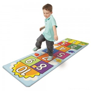 [BLACK FRIDAY] Melissa & Doug Hop & Ct Hopscotch Rug, Kids Unisex