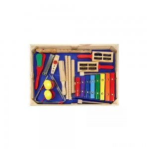 [BLACK FRIDAY] Melissa & Doug Deluxe Band Set With Wooden Musical Instruments and Storage Case