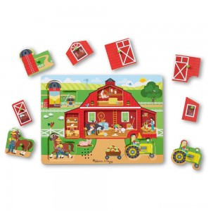 [BLACK FRIDAY] Melissa & Doug Around the Farm Sound Puzzle 8pc