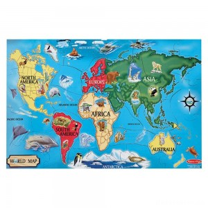 [BLACK FRIDAY] Melissa And Doug World Map Jumbo Floor Puzzle 33pc