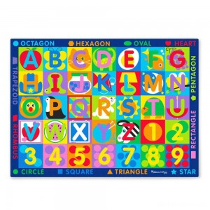 [BLACK FRIDAY] Melissa & Doug Jumbo ABC-123 Rug, Kids Unisex