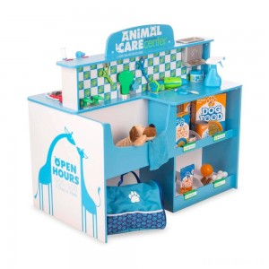 Melissa & Doug Animal Care Veterinarian and Groomer Wooden Activity Center