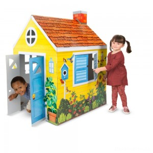 [BLACK FRIDAY] Melissa & Doug Country Cottage Indoor Corrugate Playhouse (Over 4' Tall)