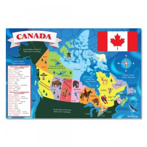 [BLACK FRIDAY] Melissa And Doug Canada Map Jumbo Floor Puzzle 48pc