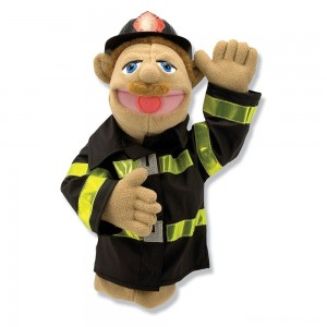 [BLACK FRIDAY] Melissa & Doug Firefighter Puppet With Detachable Wooden Rod
