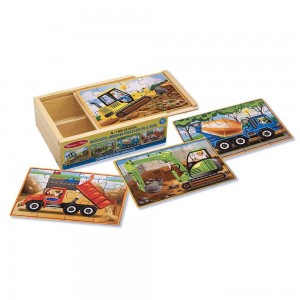 [BLACK FRIDAY] Melissa & Doug Construction Vehicles 4-in-1 Wooden Jigsaw Puzzles (48pc)