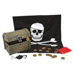 [BLACK FRIDAY] Melissa & Doug Wooden Pirate Chest Pretend Play Set