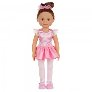 [BLACK FRIDAY] Melissa & Doug Victoria 14-Inch Poseable Ballerina Doll With Leotard and Tutu