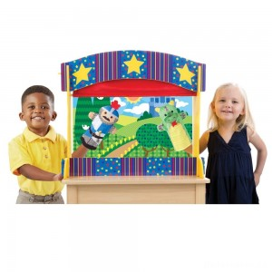 [BLACK FRIDAY] Melissa & Doug Tabletop Puppet Theater - Sturdy Wooden Construction