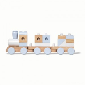 Melissa & Doug Wooden Jumbo Stacking Train - Natural