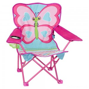 [BLACK FRIDAY] Melissa & Doug Sunny Patch Cutie Pie Butterfly Folding Lawn and Camping Chair