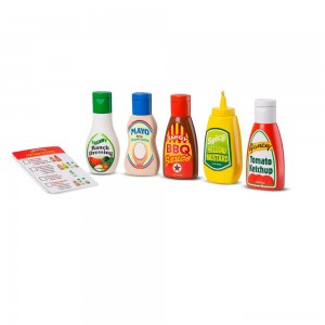 Melissa & Doug 6pc Favorite Condiments Play Food Set