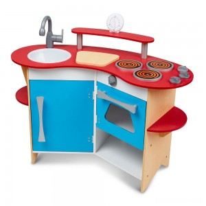 [BLACK FRIDAY] Melissa & Doug Cook's Corner Wooden Kitchen Pretend Play Set