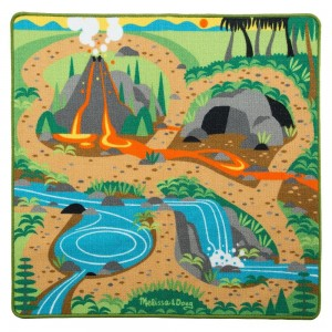 "[BLACK FRIDAY] Melissa & Doug Prehistoric Playground Dinosaur Activity Rug (39 X 36"") - 4 Toy Animals Toy"