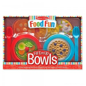 [BLACK FRIDAY] Melissa & Doug Create-A-Meal Fill Em Up Bowls (12pc) - Play Food and Kitchen Accessories