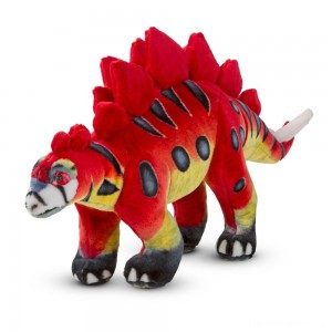 [BLACK FRIDAY] Melissa & Doug Giant Stegosaurus Dinosaur - Lifelike Stuffed Animal