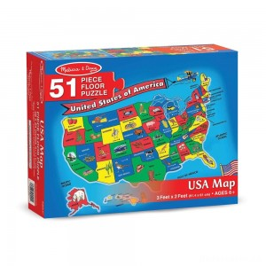 [BLACK FRIDAY] Melissa And Doug Usa Map Floor Puzzle 51pc