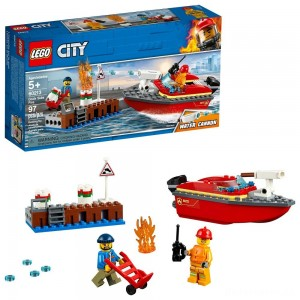 LEGO City Dock Side Fire 60213 [Sale]