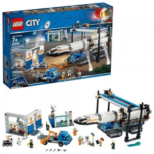 [BLACK FRIDAY] LEGO City Space Rocket Assembly & Transport 60229 Model Rocket Building Set with Toy Crane 1055pc