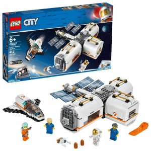 LEGO City Space Lunar Space Station 60227 Space Station Building Set with Toy Shuttle [Sale]