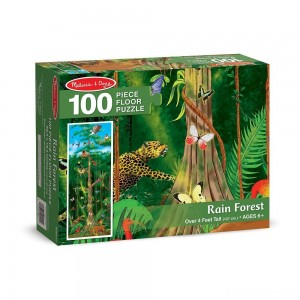 [BLACK FRIDAY] Melissa & Doug Rainforest Jumbo Jigsaw Floor Puzzle 100pc