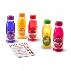 [BLACK FRIDAY] Melissa & Doug Tip & Sip Toy Juice Bottles and Activity Card (6pc)